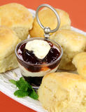 Scones Jam And Cream Royalty Free Stock Photography