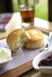 Scones and jam Royalty Free Stock Images