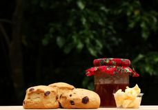 Scones and jam Stock Photography