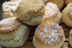 Scones at the Kilkenny Castle in Ireland. With powdered sugar sprinkled on top royalty free stock photo