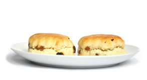 Scones on a plate Stock Images