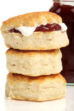Scones and pot of jam Stock Photography