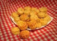 Scones savoureuses de fromage images libres de droits