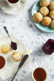 Scones and tea. Royalty Free Stock Images