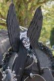 Sconosciuto con il costume nero di angelo Immagini Stock