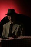 Sconosciuto - uomo in cappello grigio Fotografia Stock Libera da Diritti