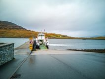 Sconser, Isle of Skye Scotland - October 23 2018 : Cars driving on the ferry to Raasay stock image