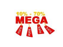 Sconti mega di vendite Immagine Stock