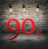 sconti 90 per cento fuori con l'offerta speciale del testo il vostro sconto dentro Immagine Stock Libera da Diritti