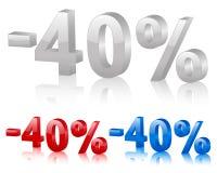Sconto 40% Fotografia Stock Libera da Diritti