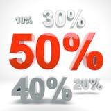Sconto 50% Fotografia Stock Libera da Diritti