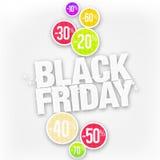 Sconto di vendita di Black Friday Immagini Stock