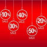 Sconto di vendita di Natale Fotografie Stock