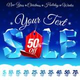 Sconto di vendita di Natale Fotografia Stock Libera da Diritti