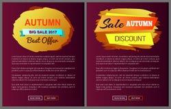 Sconto speciale di migliore offerta di Autumn Big Sale 2017 Fotografie Stock