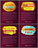 Sconto speciale di migliore offerta di Autumn Big Sale 2017 Fotografia Stock Libera da Diritti