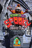 Spooky coaster entrance sign Royalty Free Stock Image