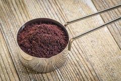 Scoop of acai berry powder Stock Photos