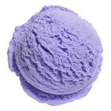 Scoop of blueberry ice cream royalty free stock images