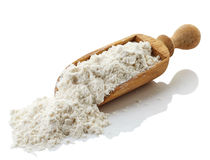 Scoop of buckwheat flour Stock Images
