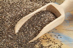 Scoop of chia seeds Royalty Free Stock Photo