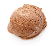 Scoop of chocolate ice cream Royalty Free Stock Images