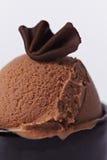 Scoop of chocolate ice cream Royalty Free Stock Image