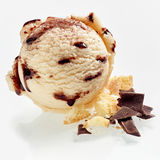 Scoop of creamy cookie and chocolate ice cream Stock Photography