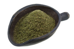 Scoop of dried dill weed stock images