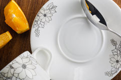 Scoop dish. In the empty dish Royalty Free Stock Images