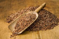 Scoop with flax seeds Royalty Free Stock Photography