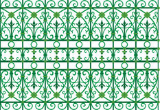 Scoop grating fence pattern. Vector pattern of metal scoop grating fence Stock Photos