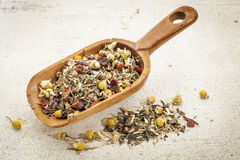 Scoop of herbal tea Stock Photos