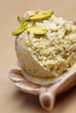Scoop of homemade pistachio ice Royalty Free Stock Photo