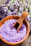 Lavender sea salt royalty free stock images