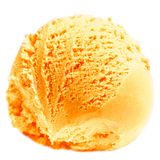 Scoop of Mango  ice cream isolated  on white background. Ball of Royalty Free Stock Photography