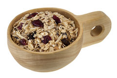 Scoop of muesli cereal Stock Photography