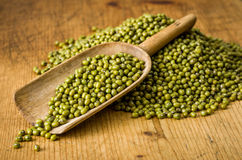 Scoop with mung beans Royalty Free Stock Image