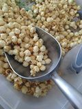 Scoop of original kettle corn royalty free stock photo