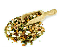 Scoop of peas, beans lentils etc Stock Image