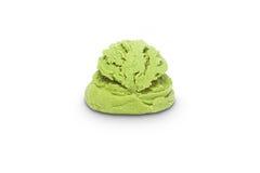 Scoop of pistachio ice cream Stock Images