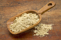 Scoop of rice bran Stock Photo