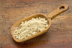 Scoop of rice bran Stock Images