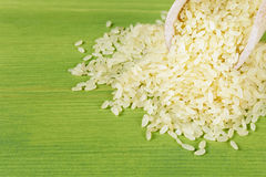 Scoop of rice closeup Royalty Free Stock Photo