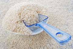 Scoop of rice Stock Photo