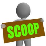 Scoop Sign Character Means Gossipmonger Or Stock Photos