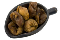 Scoop of Turkish dried figs Royalty Free Stock Images