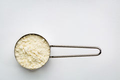 Scoop of whey protein powder Stock Image