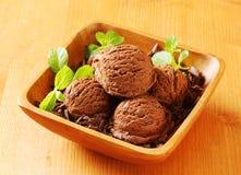 Scoops of chocolate ice cream Royalty Free Stock Photos