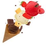 Scoops de crème glacée  Photographie stock